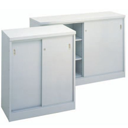 Brownbuilt Sliding Door Cupboard.  Brownbuilt sliding door storage cupboards have been proven performers in organisations of all sizes providing secure shelf-based storage and low-cost additional work surfaces.