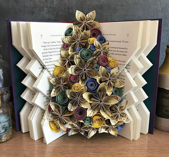 Harry Potter Book Art Sculpture Folded Book Art Altered
