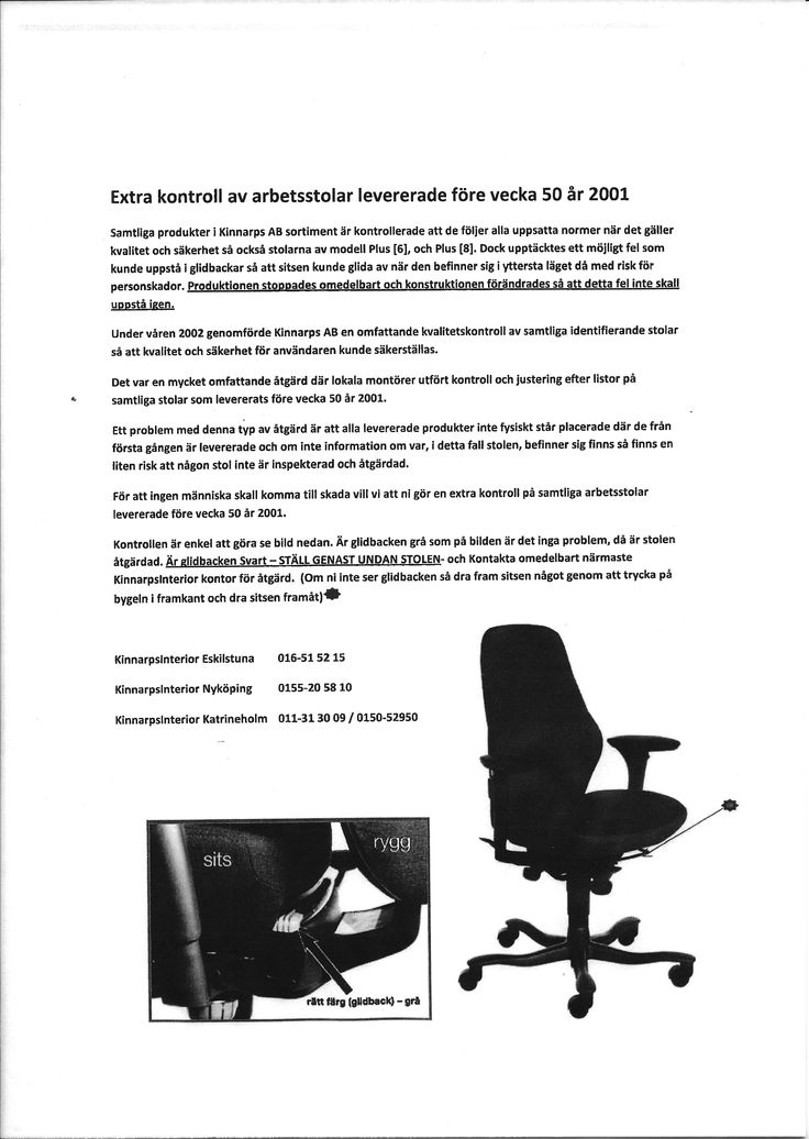 Den här varningen lades upp på landstinget Sörmlands hemsida på min uppmaning efter min skada 12 okt 2010. Den borde lagts upp av Kinnarps redan 2003 och ingen hade kommit till skada. Kinnarps agerande? Dåligt!