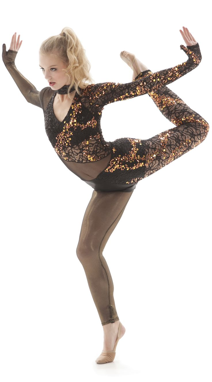 West Fargo High School - Custome High Kick Unitard with Mesh, Lace, and Sequin