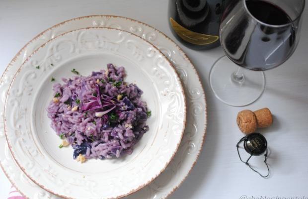 RISOTTO AL LAMBRUSCO E CAVOLO VIOLA - Cucina Mancina - Le ricette mancine
