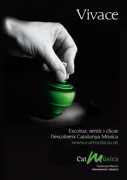 Campaña de lanzamiento del nuevo portal en internet de la emisora de música clásica y campaña conmemorativa de los 25  años. Accesit Premios Anuaria 2009. 2012. Catalunya Ràdio.    Creatividad 3 de 4  Diseño de Artimaña - www.artinet.net