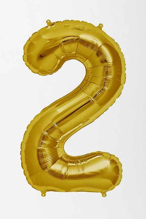 Gold Number Party Balloons! - All numbers - 0 thru 9 available. FYI they are quite large. They are not little balloons and you will need a helium tank.