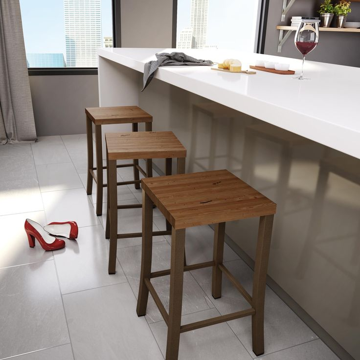 Amisco Ryan and Wood Counter Stool