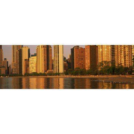 Buildings at the waterfront Lake Shore Drive North Avenue Beach Chicago Cook County Illinois USA Canvas Art - Panoramic Images (12 x 36)