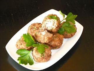 Authentic Greek Recipes: Greek Keftedakia (Meatballs) With Feta Cheese Stuffing And Ouzo
