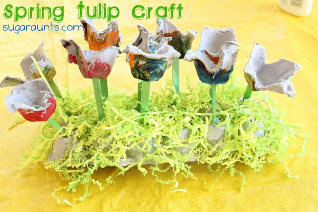 #Spring Tulip #craft by the Sugar Aunts