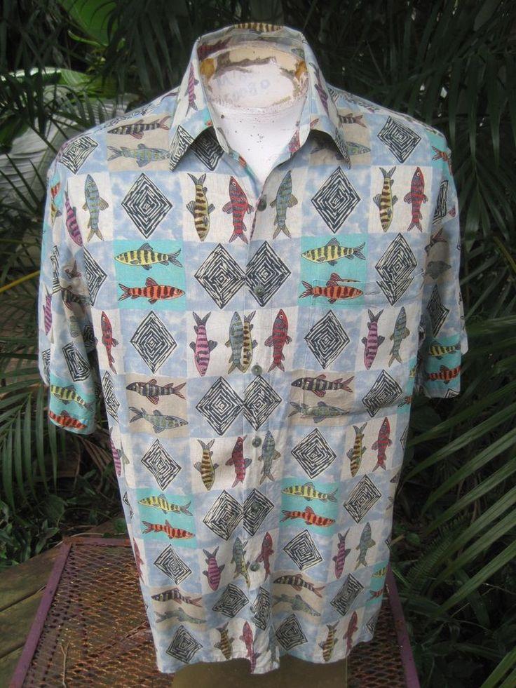 60 best campia moda hawaiian shirt brand names for men for Fish hawaiian shirt