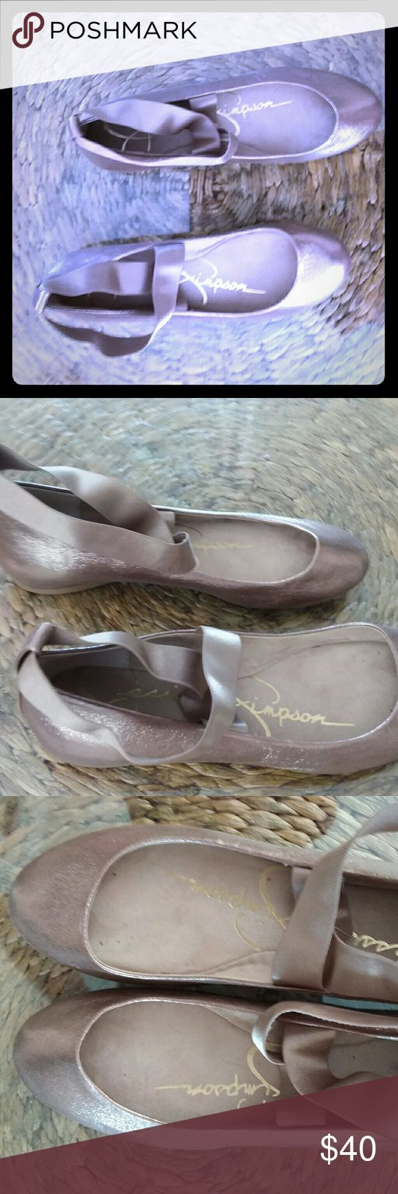 Jessica Simpson ballet slippers Super cute gold/nude colored flats never worn! Jessica Simpson Shoes Flats & Loafers
