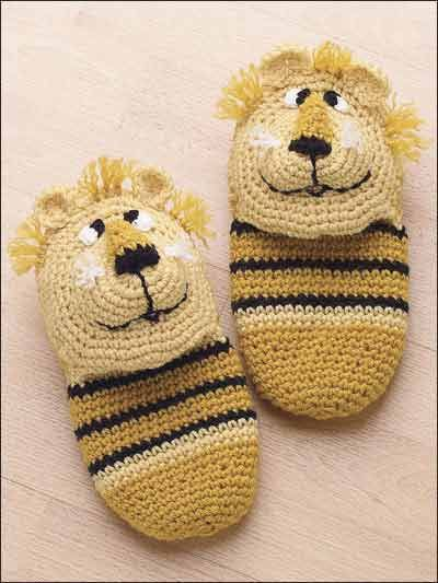 Crochet for Babies & Children - Crochet Baby Booties & Socks Patterns - Lion Slippers