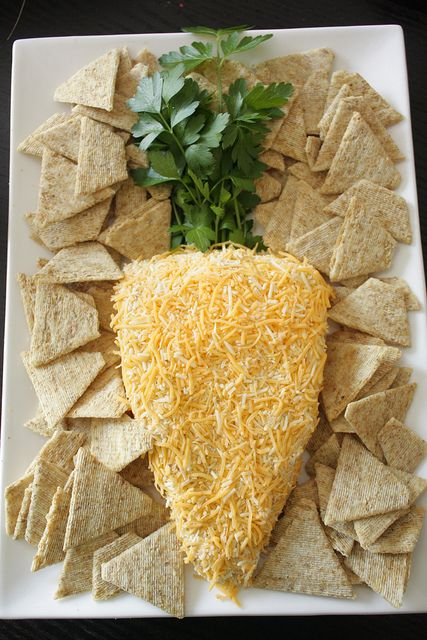 Carrot-shape cheese ball