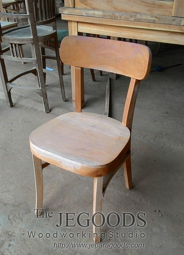 Production and manufacturing of retro scandinavian mid century chair by Jepara Goods Woodworking Studio Indonesia.
