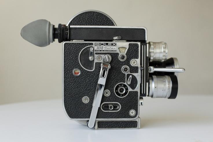 Bolex H16 mid-century camera from Switzerland! Sturdy is an understatement for these cameras.