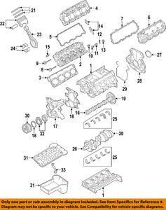 a ford oem 04 10 e 350 super duty engine cylinder head gasket 4c3z6051eb