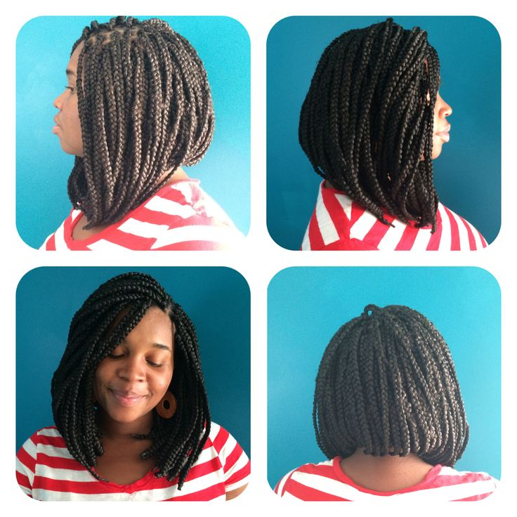 New Do Short Long Bob Cut Style Box Braids On Black