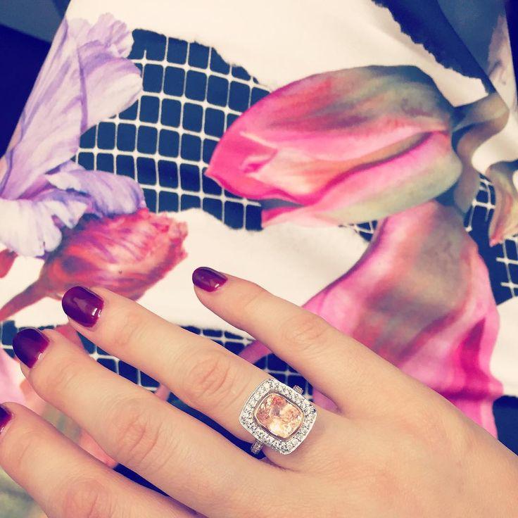 Sapphire rings by Larsen Jewellery  #engagementrings #dressrings #sapphires #pachsapphirerings #jewellery