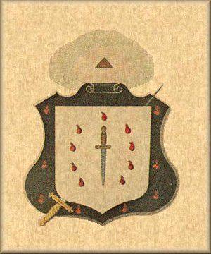 Brasão do Grau de Sublime Cavaleiro Eleito - Rito Escocês Antigo e Aceito