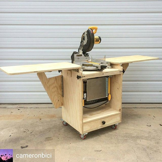 Like my Mobile Miter Saw Station but also dig my Flip Top Tool Stand? @cameronbici figured why pick one when you can have both. What a sweet mashup build!  I love seeing modifications to my plans to make them work for you.  As always, plans are on my site.  #readerproject #youbuiltthat #fixthisbuildthat