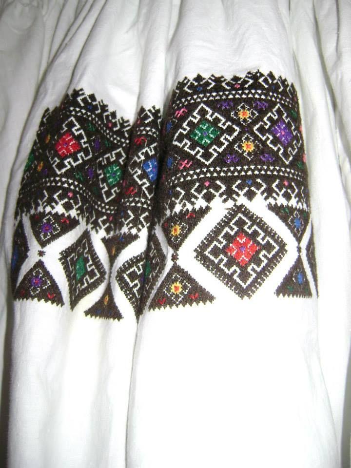 Embroidered shirt from Bershad raion, Vinnytsya region, Ukraine. Collection of Bershad Regional Museum