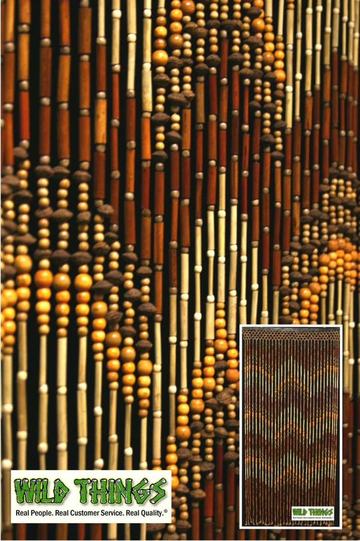 Bead curtain room divider - This Awesome Wooden Beaded Curtain Is Made Out Of Bamboo Wood And Peach Pits
