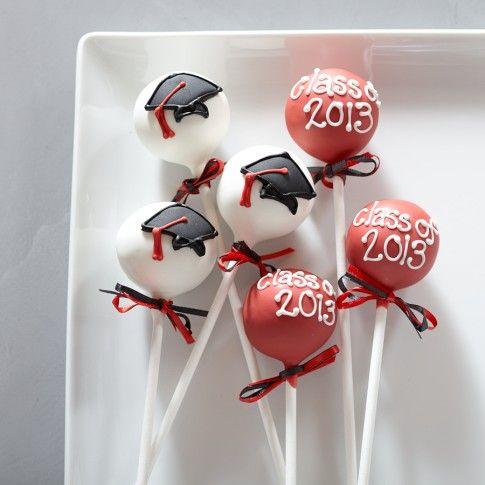 graduation cake pops ideas | Sweet Lauren Cakes Graduation Cake Pops | Williams-Sonoma
