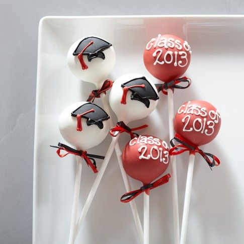 graduation cake pops ideas | Sweet Lauren Cakes Graduation Cake Pops | Williams-Sonoma