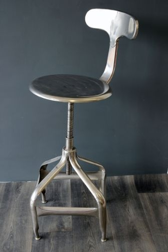 Industrial Metal Architects Stool - Was £120 Now £70