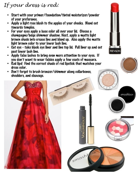 What color lips go with red dress