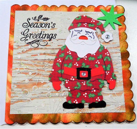 Christmas Santa Card  Handmade Cards  Happy Christmas Cards