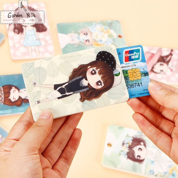 2016 linda niña Conjunto de Manga PVC Llavero Llavero Titular de la Tarjeta de Crédito Caja de Tarjeta de Autobús Bolsa Regalos de Cumpleaños PT0419