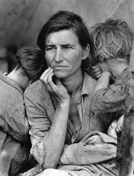 «Мать переселенцев» (1936). Доротея Ланж