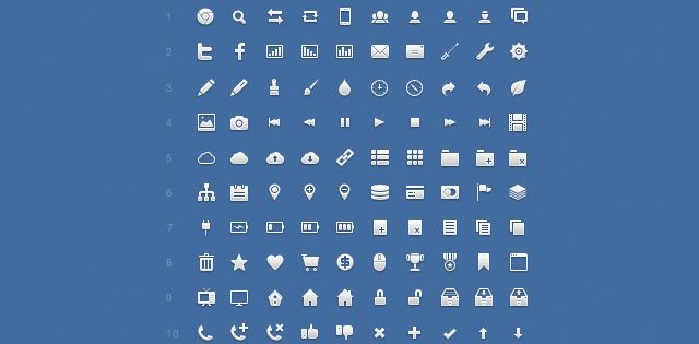 Application Icon Set; Number of Icons: 120  Format(s): PNG, PSD, CSH  License: Creative Commons Attribution 3.0 Unported License.
