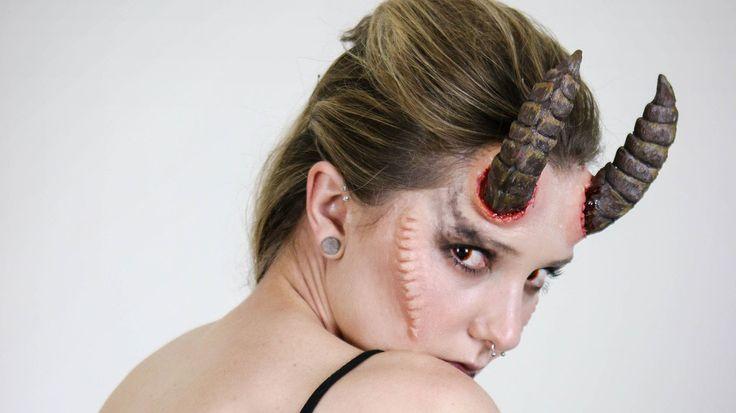 Demon Makeup Collab with Klaire De Lys Art