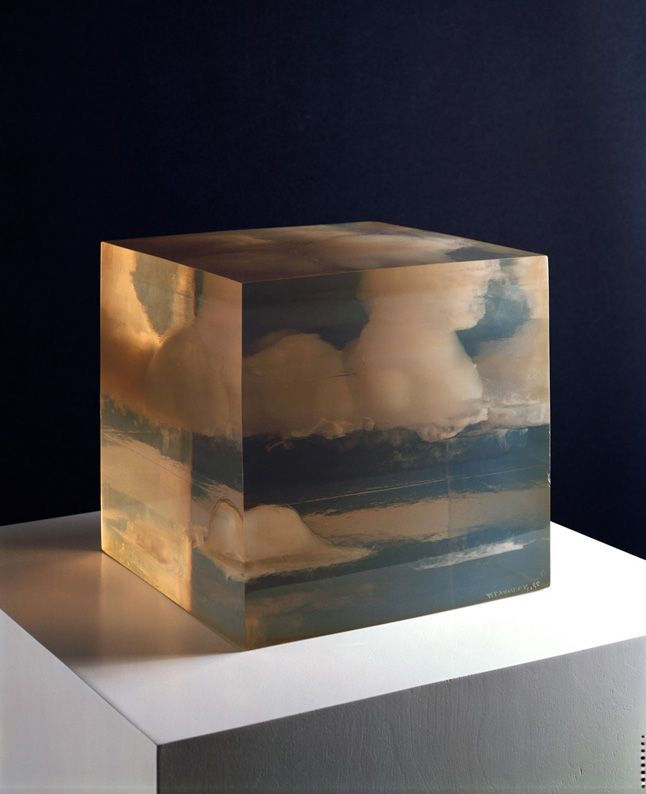 inspiration: Giving a permanency to the ethereal is just one of the aims of Californian artist Peter Alexander in this 1966 work Cloud Box. Described by the artist as 'containers of silence' – the original inspiration for these resin cubes, came from the artist glossing his surfboard and being fascinated by the remaining liquid in the Dixie cup.