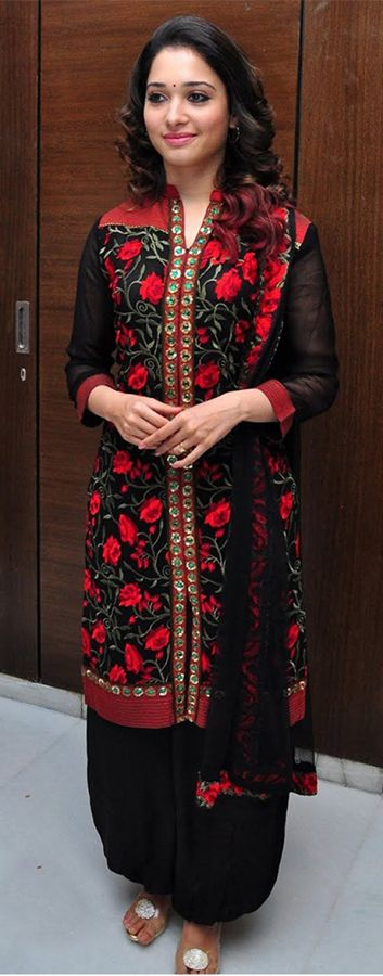 Tamanna Bhatia in a lovely Patiala suit...(Source: Pinterest)