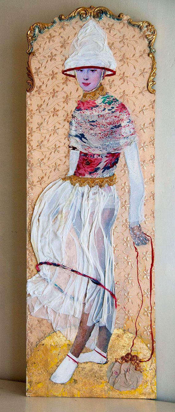 Wandpaneel Claire Egu serie demoiselles van MargrietThissen op Etsy