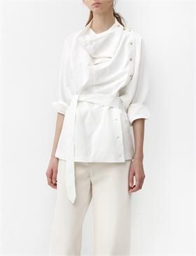 Silk Linen White