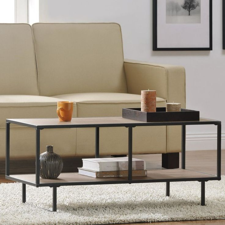$73.99 WAYFAIR -- This sleek and slim TV stand can also be used as a stand. The table features a gorgeous sonoma oak wood grain finish in a gunmetal gray metal frame.