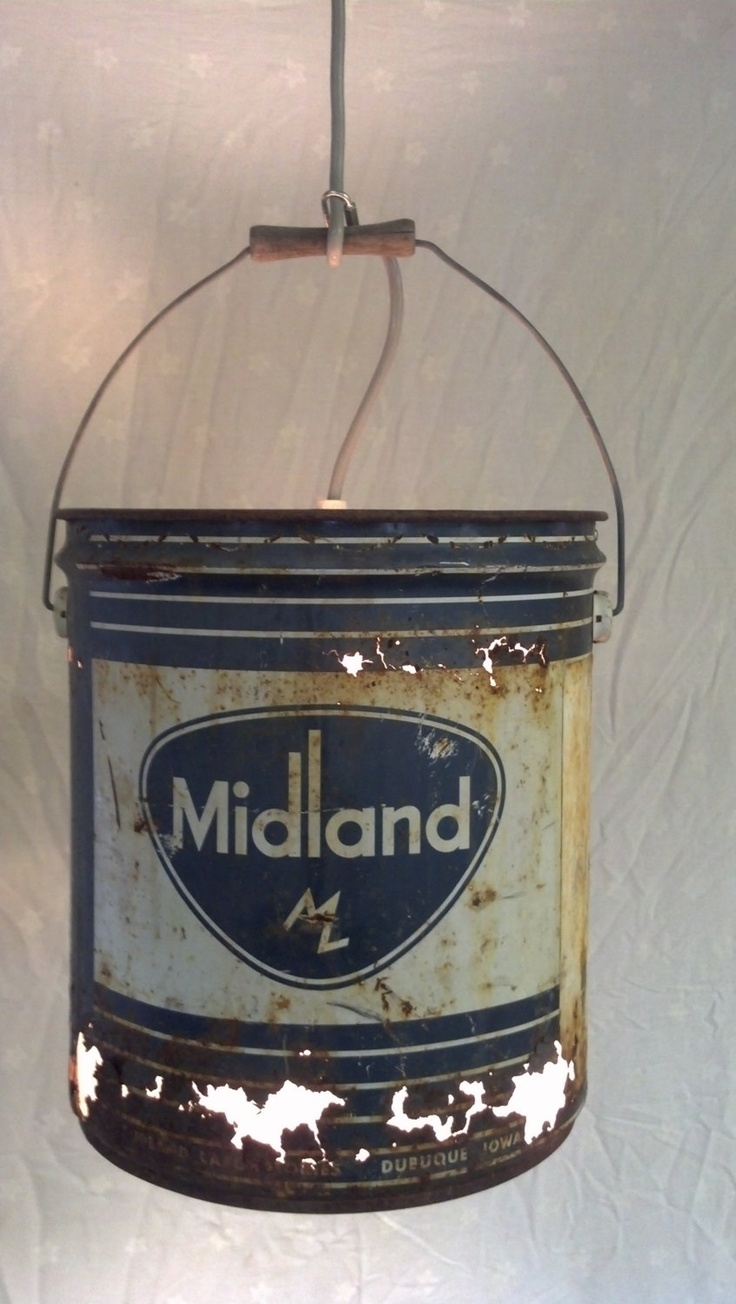 Repurposed Oil Bucket Swag Lamp Buckets Lamps And