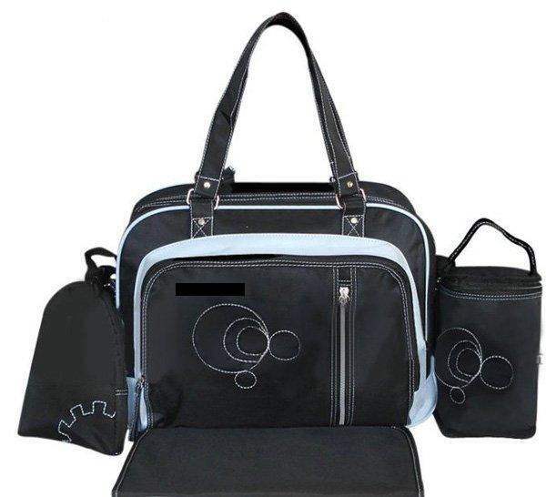 dribbleanddrool - Black and Blue Nappy Bag Set, $29.00 (http://www.dribbleanddrool.com.au/black-and-blue-nappy-bag-set/)