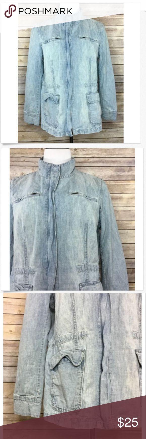 "J. Jill Womens Zip Up Light Wash Jean Jacket H8 J. Jill Women's Zip Up Light Wash Jean Jacket. EUC without flaws. Size Medium Petite. 100% Cotton. Length - 24.5"" Chest - 41"" Waist - 39"" J. Jill Jackets & Coats Jean Jackets"