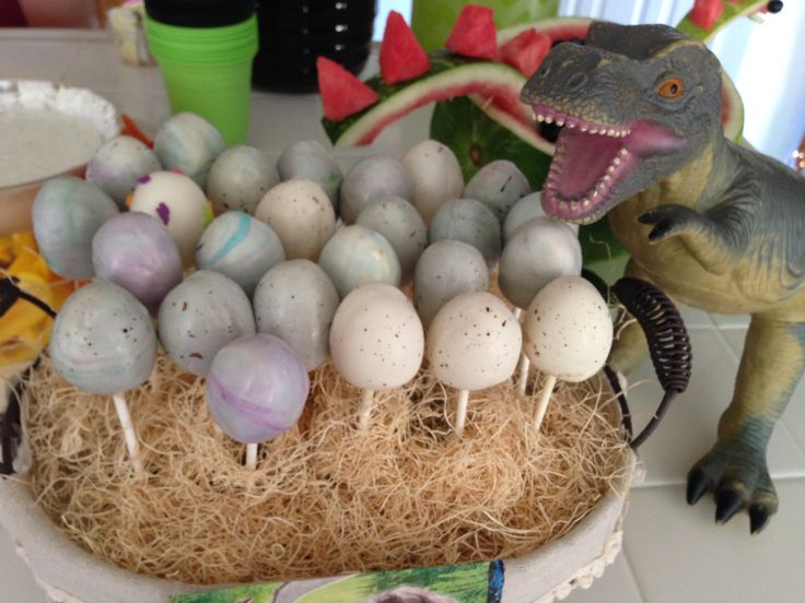 Dinosaur egg cake pops                                                                                                                                                                                 More