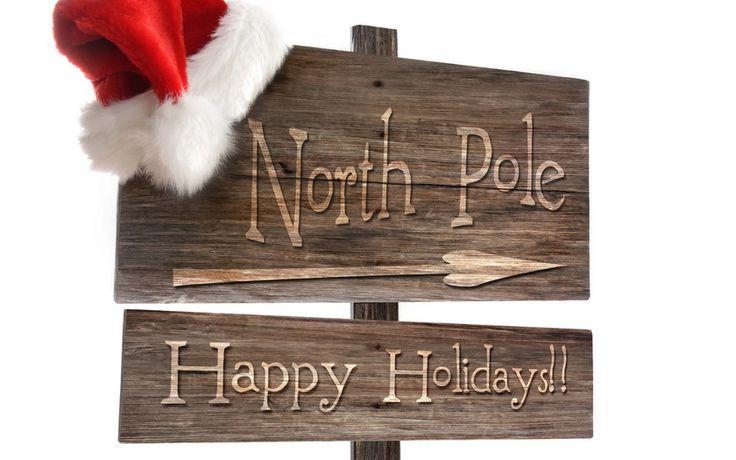 надпись на доске, Северный полюс