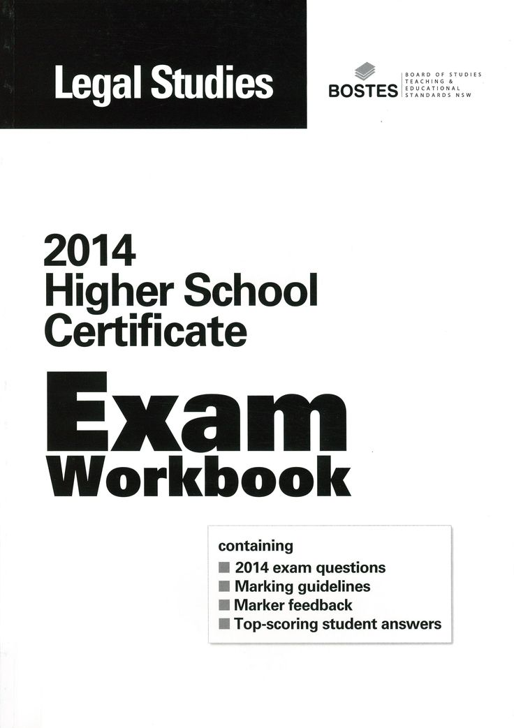 2014 HSC Exam Workbook: Legal Studies.