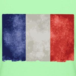 t shirt vert c femme drapeau français bleu blanc rouge - Tee shirt Femme, American Apparel