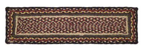 "Cambrie Lane Jute Stair Tread Rectanglar 8.5x27"" by Victorian Heart. $7.95. High end quality and workmanship!. Cambrie Lane Collection colors may incude: Burgundy, Black, yellow and Tan. Product measurements and additional details listed in title and/or Product Description below.. All cloth items in our collections are 100% preshrunk cotton. All braided items (like rugs, baskets, etc.) are 100% jute. Extensive line of matching items and accessories available! (Search by Collectio..."