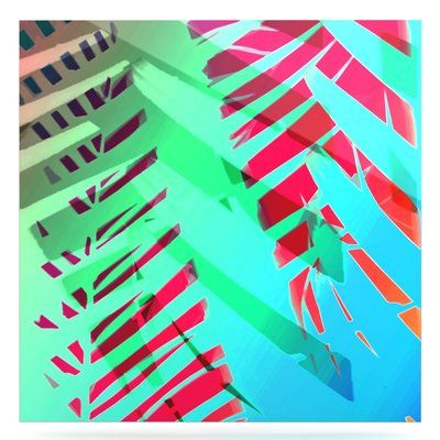 """East Urban Home 'Cool Tropical' Graphic Art Print on Metal Size: 10"""" H x 10"""" W x 1"""" D"""