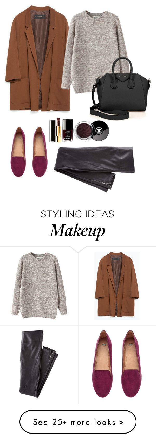 """Untitled #15"" by kyukhno on Polyvore featuring Zara, Chicnova Fashion, H&M, Givenchy and Wrap"