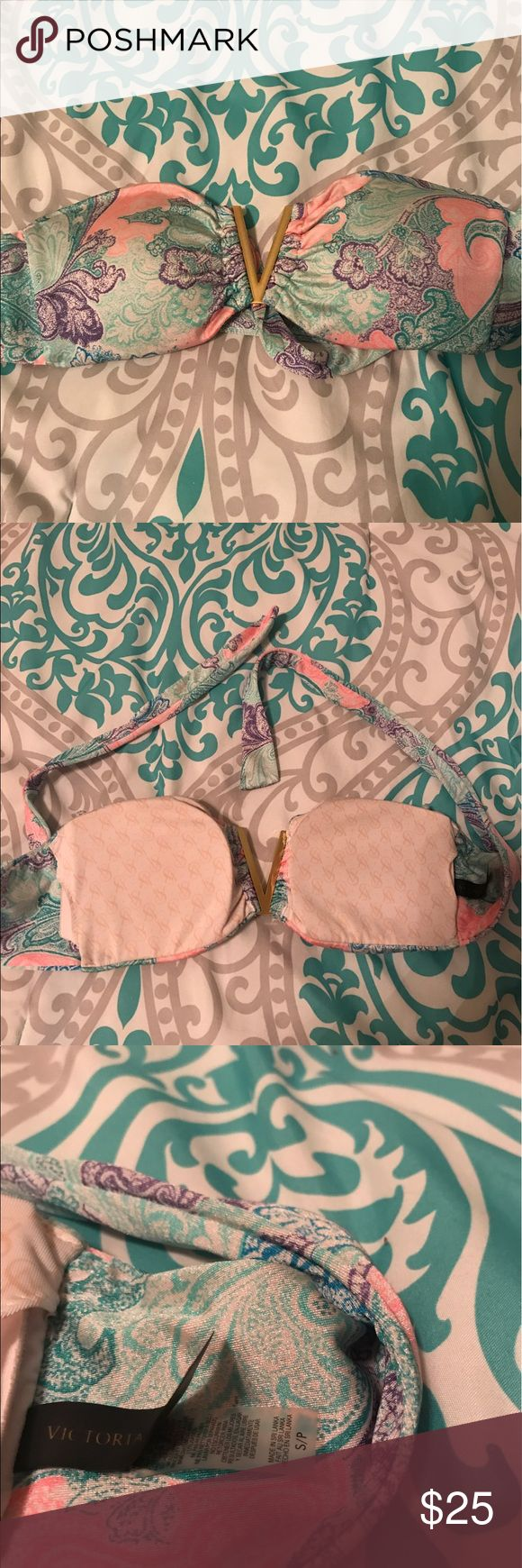VS Bathing Suit Top Ties in the back. Padding included Victoria's Secret Swim Bikinis