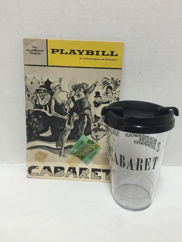 Cabaret Musical Souvenir Cup Playbill Ticket Stub 1967 Joel Grey Peg Murray